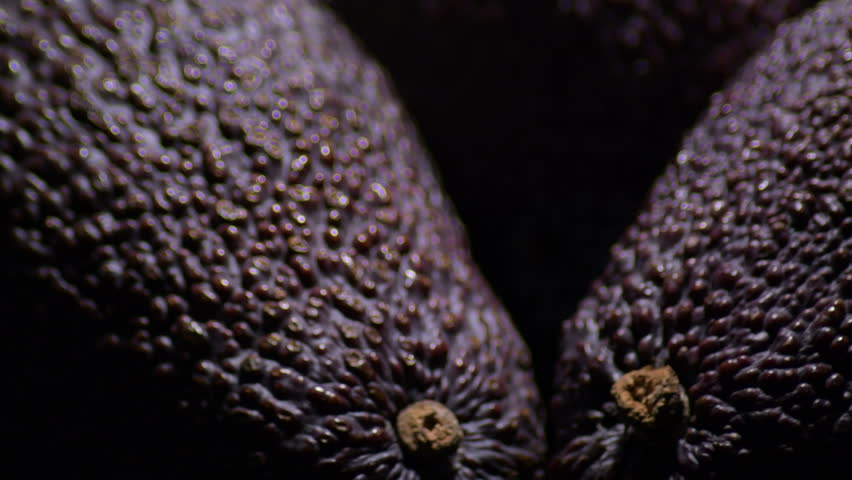Ripe hass avocados fruit , detail of skin dark violet | Shutterstock HD Video #1026039899