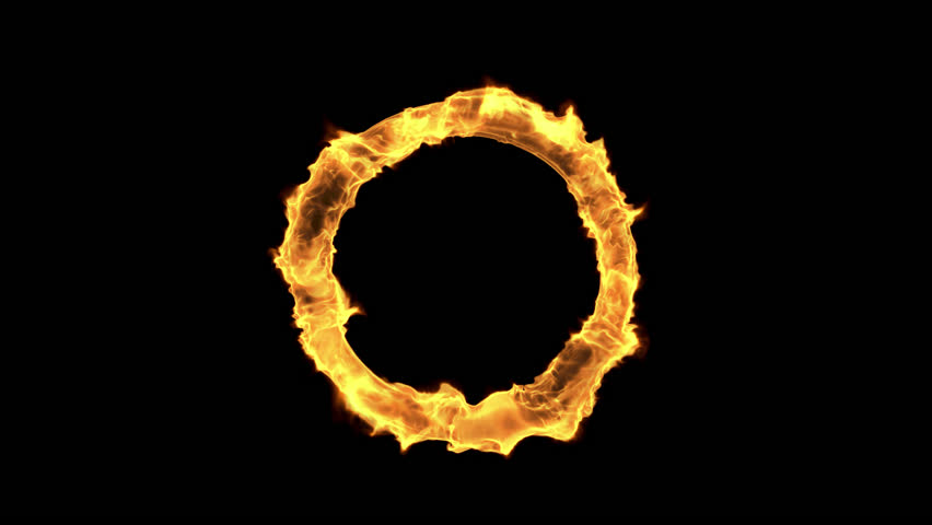 Fire circle looped background. Rendered with alpha channel. Easy to use, just place the clip over your footage. Ideal for visual effects & motion graphics.