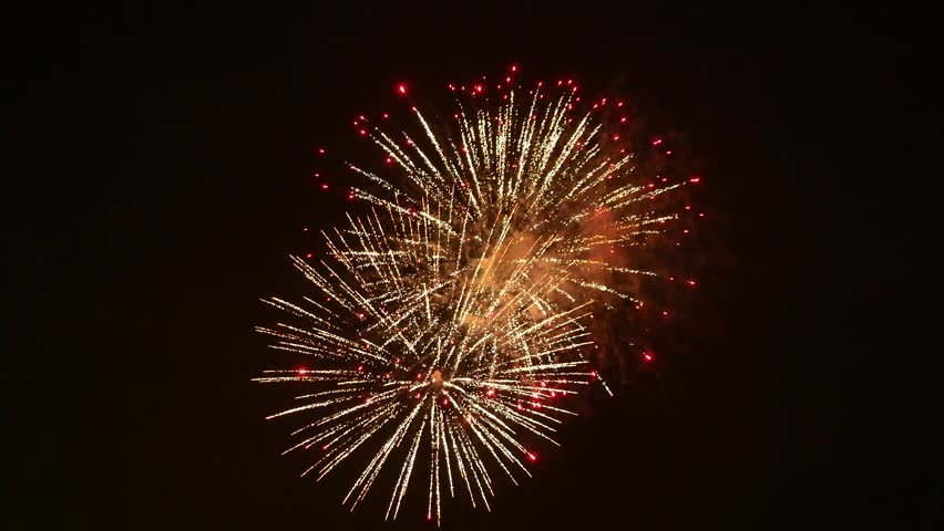 The fireworks in the night sky | Shutterstock HD Video #1026339509