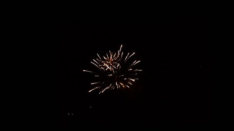 four separate fireworks bursts