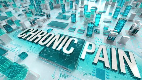Chronic Pain with medical digital technology concept