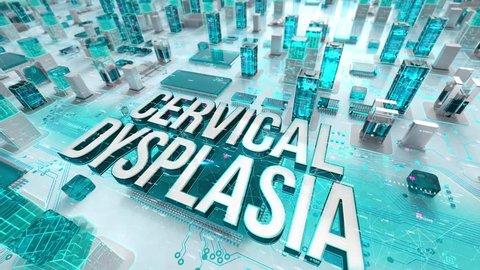 Cervical Dysplasia with medical digital technology concept
