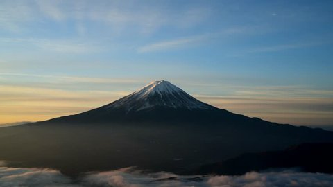 Mount Fuji of the daybreak