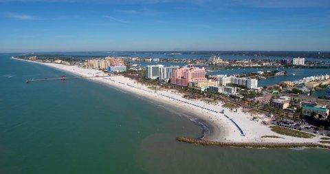 Aerial Drone, Tampa Florida, Beach, Ocean & Skyline