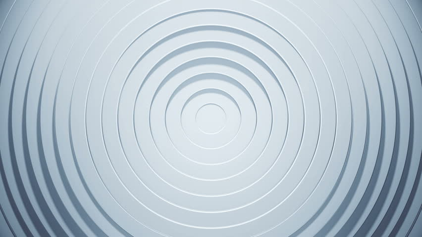3d circles pattern with blinds effect. White clean rings animation. Abstract background for business presentation. Seamless loop texture. | Shutterstock HD Video #1027101179