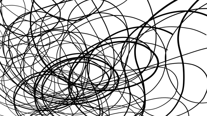 Abstract Doodle Pattern Animation Scribbles Stock Footage Video
