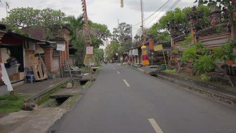 pov scooter ride through Bali