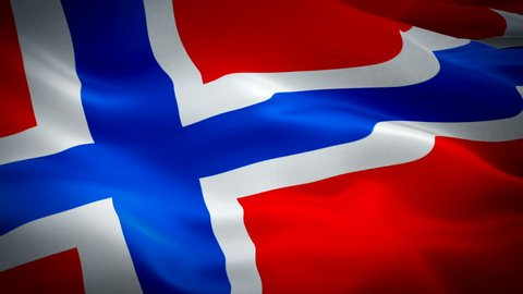 Norway waving flag. National 3d Norwegian flag waving. Sign of Norway seamless loop animation. Norwegian flag HD resolution Background. Norway flag Closeup 1080p Full HD video for presentation
