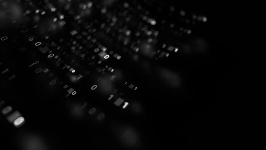 3d abstract render binary background. Zero and one code digits lines. Rendered with depth of field. Loopable animation. | Shutterstock HD Video #1027230929
