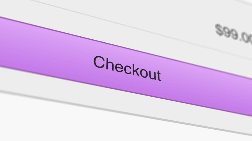 A motion graphic video animation illustrating computer mouse icon clicking online website checkout cart purchase buy symbol button on www page - closeup | Shutterstock HD Video #1027232369