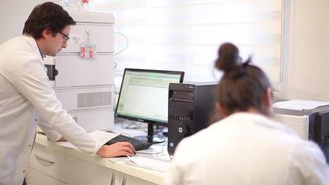 Scientists working in analysis and control laboratories/Ankara,TURKEY 12.12.2016