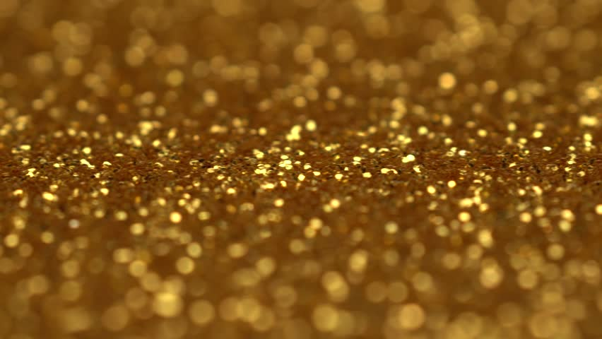 Gold holiday light shining background. Seamless abstract seamless loop cycle. Christmas or Birthday golden sparkle glitter dust particles background with bokeh movement. UHD 4K video. #1027350089