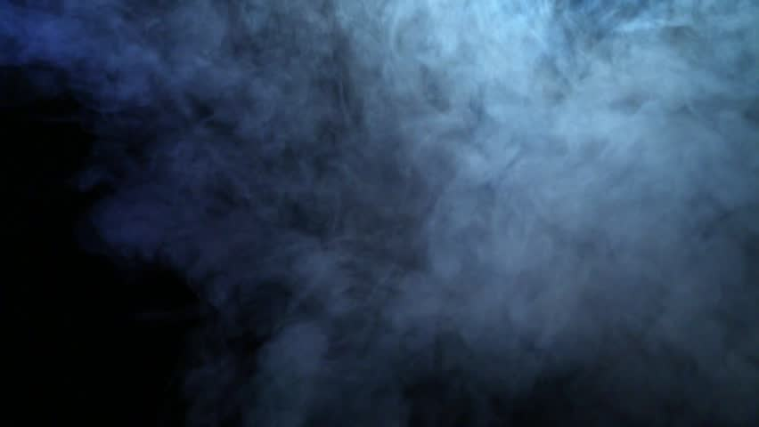 Smoke abstract. Smoke cloud. White smoke on black background ...