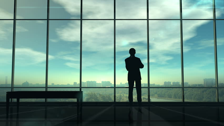 Silhouette of man corporate infographics   Shutterstock HD Video #1027551929