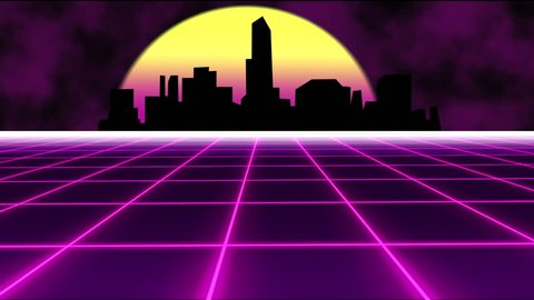 Beautiful Retro 80s Synthwave with Stock Footage Video (100% Royalty