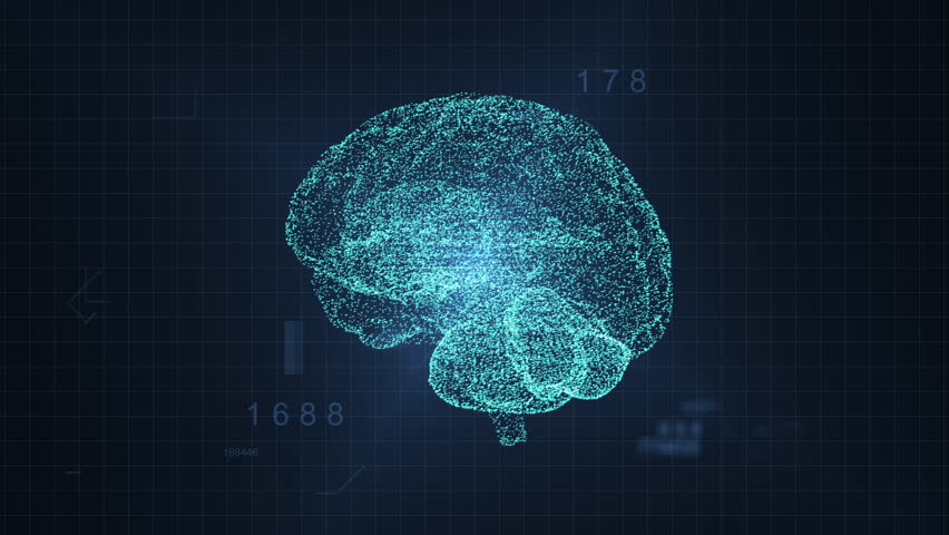 3d digital human hologram brain spinning | Shutterstock HD Video #1027760129