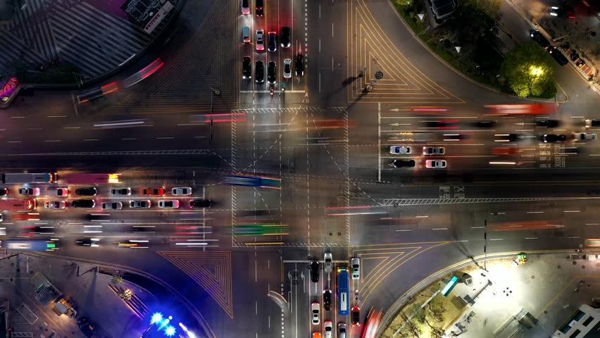 A drone shot in downtown,Gangnam,Seoul,Korea | Shutterstock HD Video #1027839689