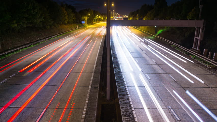 Time Lapse of Cars Traffic on London Orbital motorway M25 at Night | Shutterstock HD Video #1027852109