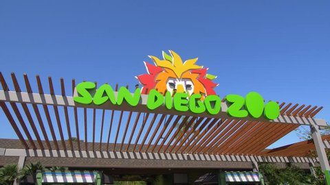San Diego, CA / USA - July 18, 2017: Entrance to the San Diego Zoo