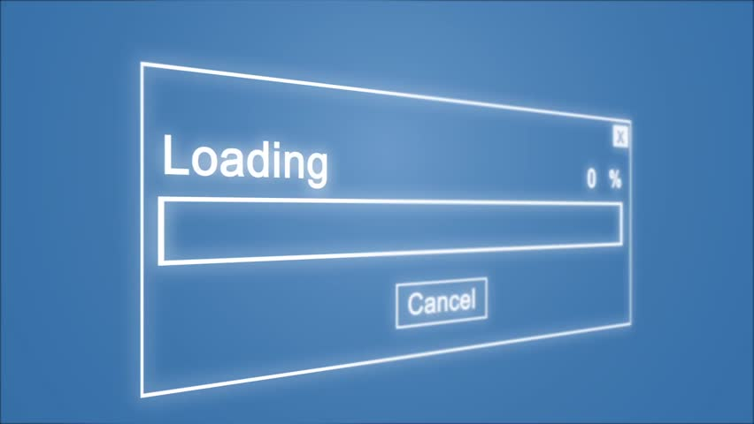 Loading Process Animation on Blue Background | Shutterstock HD Video #1027982099