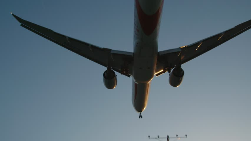 Airplane landing in LAX airport  | Shutterstock HD Video #1028006339