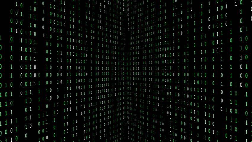 Binary code background with digits on screen. Algorithm binary, data code, decryption and encoding. Deep of field effect. Seamless loop abstract background. | Shutterstock HD Video #1028017229