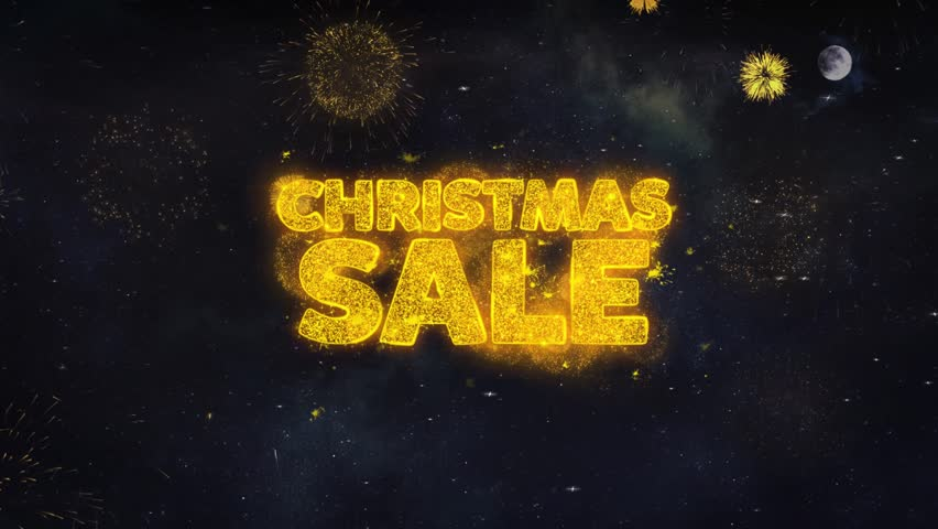 Christmas Sale Text Typography Reveal From Golden Firework Crackers Particles Night Sky 4k Background. Greeting card, Celebration, Party, Invitation, Gift, Event, Message, Holiday, Wish, Festival | Shutterstock HD Video #1028090339