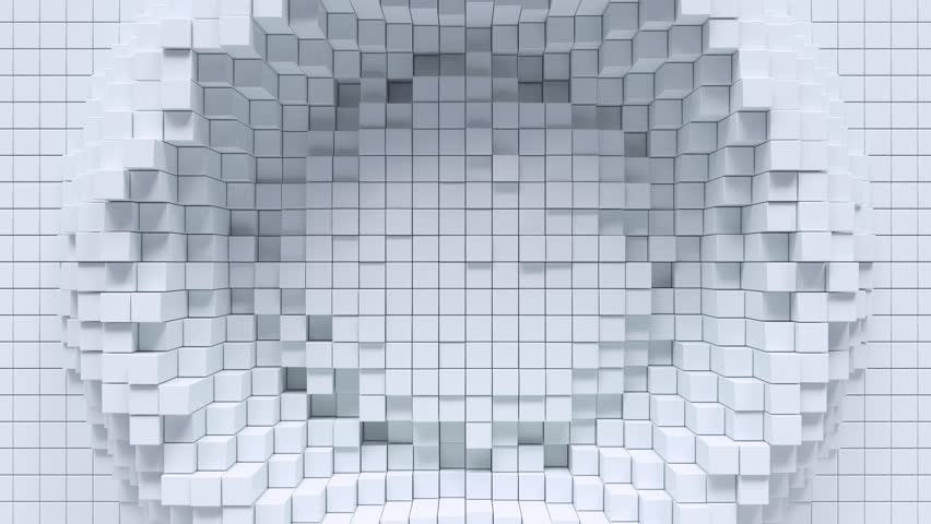 Abstract background with white moving cubic surface. | Shutterstock HD Video #1028117639