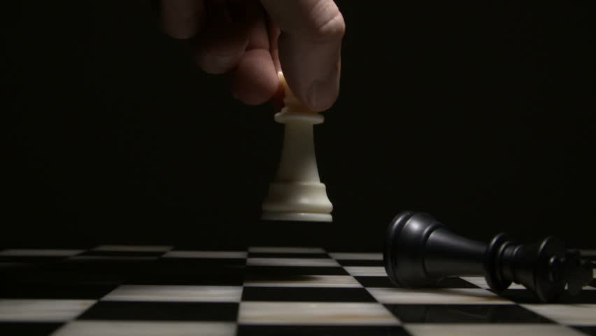 Chess board game. Close-up. Chess figures on a dark background. | Shutterstock HD Video #1028232899