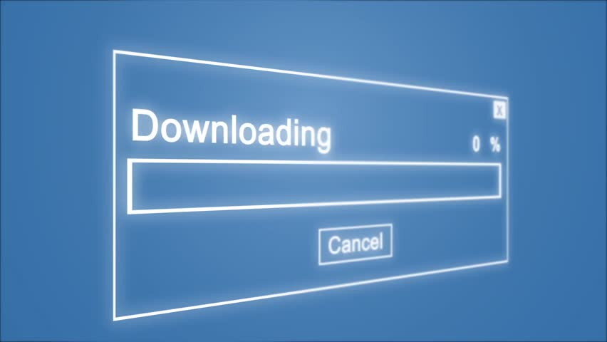 Downloading Process Animation on Blue Background | Shutterstock HD Video #1028308499