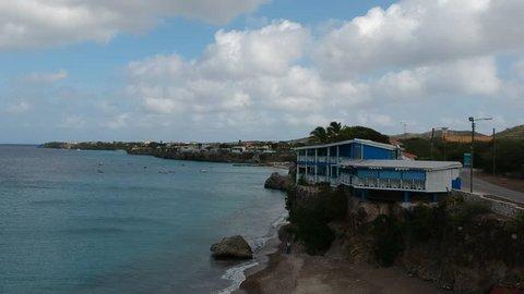 A view towards Playa Piscado/Playa Granda from Playa Kalki on Curacao