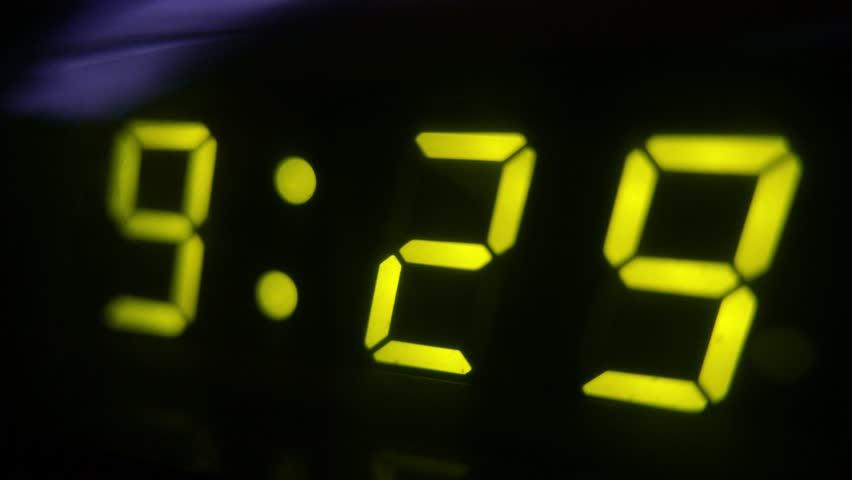 4K Digital Clock Turn to 9 30   Shutterstock HD Video #1028360279