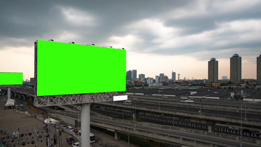 Blank template for outdoor advertising #1028512229