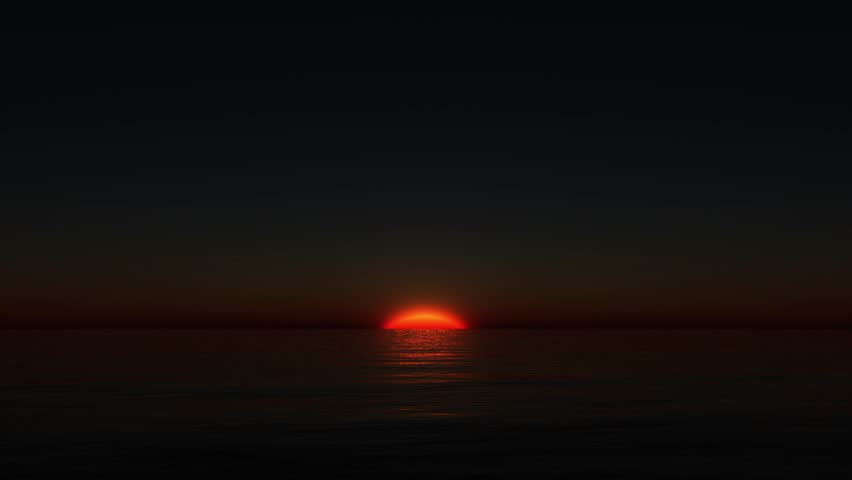 3D CG rendering of sunset | Shutterstock HD Video #1028892389