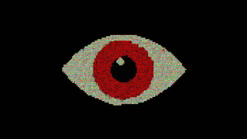 Eye pixel animation with optional luma matte. Alpha Luma Matte included. #1028941979