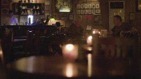 MANILA, PHILIPPINES - CIRCA JANUARY 2017: The Hobbit house bar atmosphere