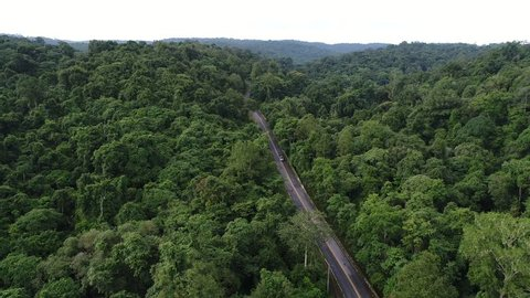 4K aerial imagery of flying over beautiful green forests in rural landscapes phitsanulok, Thailand