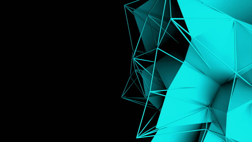 3d rendering fractal object with mesh grid in dark space, abstract modern background, computer generated | Shutterstock HD Video #1029069629