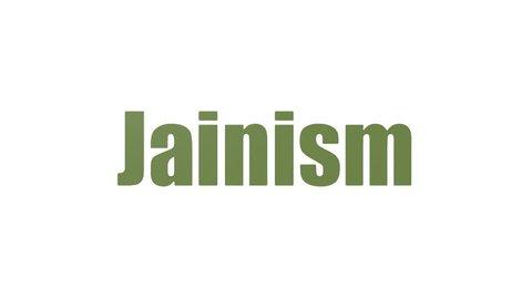 Jainism Tag Cloud Animated Isolated