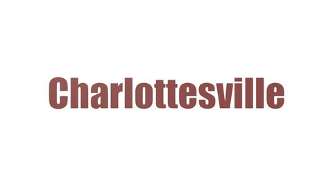 Charlottesville Tag Cloud Animated On White Background