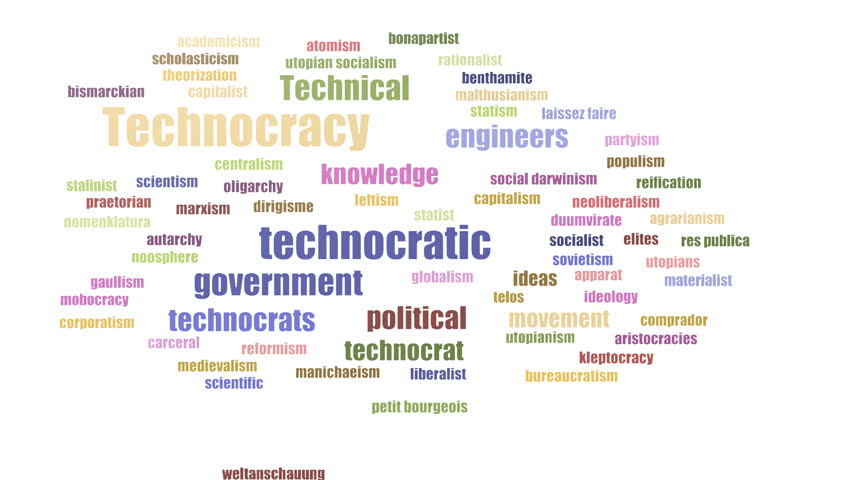 Technocracy Word Cloud Animated Isolated Stock Footage Video (100%  Royalty-free) 1029136469 | Shutterstock
