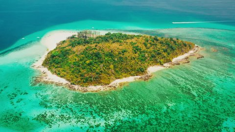 Aerial view at Bamboo Island in Phi Phi. Province Krabi, Thailand