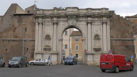 Italy, Rome - September, 2016: Porta San Giovanni in Rome