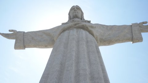 Catholic monument of Christ In Almada, Lisbon. Christ the King is a Catholic monument dedicated to the Sacred Heart of Jesus Christ overlooking the city of Lisbon