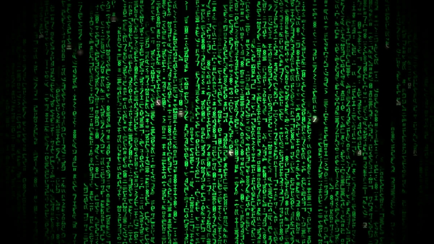 Cyberspace with green digital falling lines, abstract background, binary chain. Crypto space.Digital binary data, streaming code background. Matrix background. Programming / Coding / Hacker concept.  | Shutterstock HD Video #1029528389