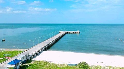 Boat dock in Hua Hin Beach