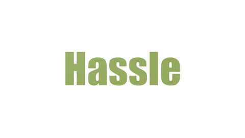 Hassle Word Cloud Animated Isolated
