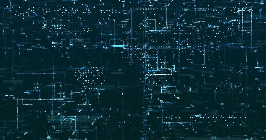 Abstract 3D digital data background | Shutterstock HD Video #1029871739