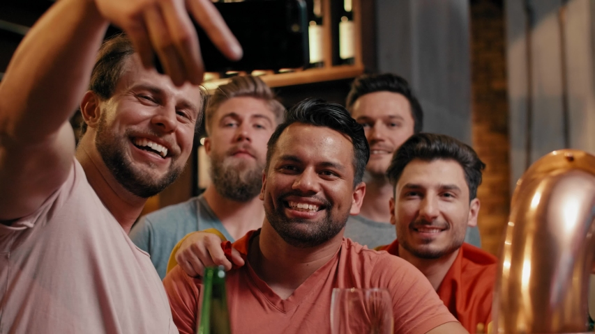 Great selfie of cheerful group of friends | Shutterstock HD Video #1029921269