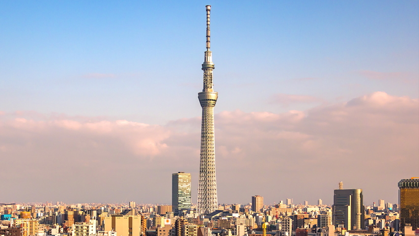 4K. Time lapse view of Tokyo city  in japan | Shutterstock HD Video #1029971819